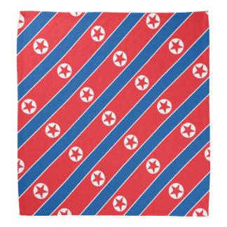 Nordkorea flagga scarf