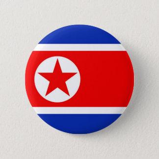 Nordkorea flagga standard knapp rund 5.7 cm