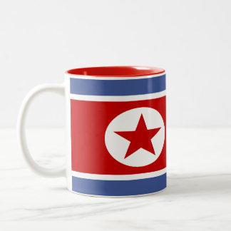 Nordkorea flagga Två-Tonad mugg