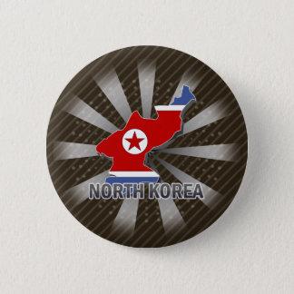 Nordkorea flaggakarta 2,0 standard knapp rund 5.7 cm