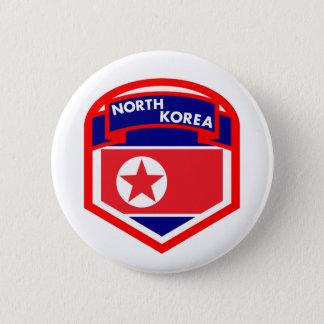 Nordkorea flaggavapensköld standard knapp rund 5.7 cm