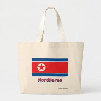 Nordkorea Flagge mit Namen Kassar
