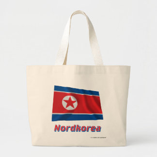 Nordkorea Fliegende Flagge mit Namen Kassar