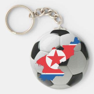 Nordkorea fotboll rund nyckelring