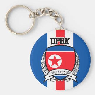 Nordkorea Rund Nyckelring