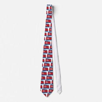 Nordkorea som vinkar flagga slips