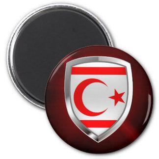 Nordlig Cypern metallisk Emblem Magnet