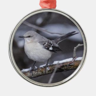 Nordlig härmfågel julgransprydnad metall