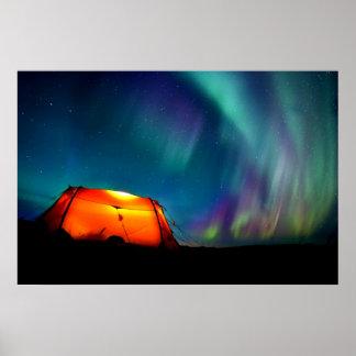 Nordlig ljus Borealis norge, genom att läka kärlek Posters
