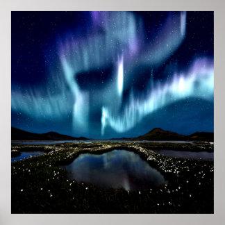 Nordlig ljus Borealis norge, genom att läka kärlek Poster