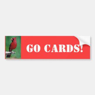 Nordliga kardinaler går kort! bildekal