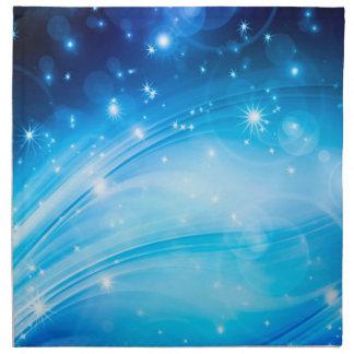 Nordliga ljusa stjärnablått + dina text & idéer tygservett