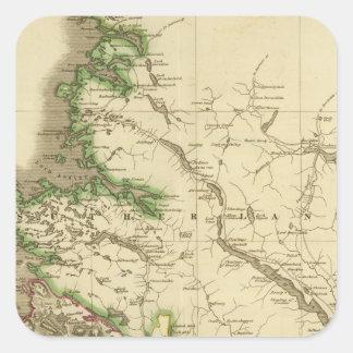 Nordliga Ross, Cromarty grevskap Fyrkantigt Klistermärke