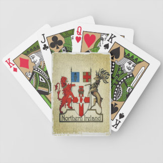 Nordligt - ireland vapensköld som leker kort spelkort