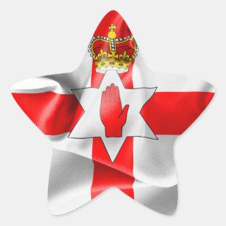 Nordligt - klistermärke för ireland flaggastjärna