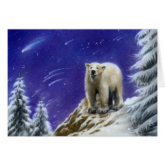Nordligt kort för hälsning för ljusPola björn