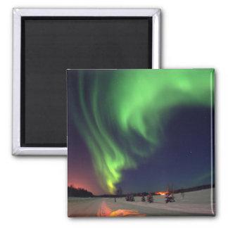 Nordligt ljus på björn sjön magnet