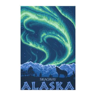 Nordligt ljus - Skagway, Alaska Canvastryck