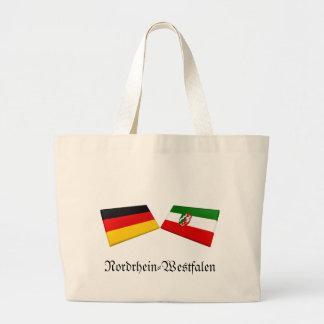 Nordrhein-Westfalen Tysklandflagga belägger med te Jumbo Tygkasse