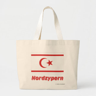 Nordzypern Flagge mit Namen Tote Bag