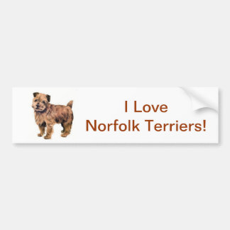 Norfolk Terrier Bildekal