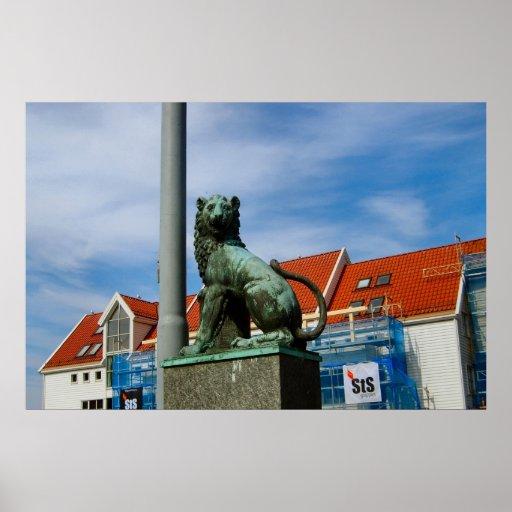 Norge Bergen som bevakar stranden Posters
