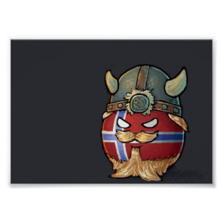 Norge Countryball Poster