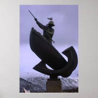 Norge fiskarestaty, nordlig norge print