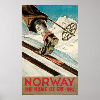 Norge hemmet av skidåkningen posters
