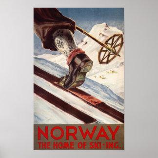 Norge - hemmet av skidåkningen poster