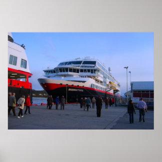 Norge kryssningfrakt i port print