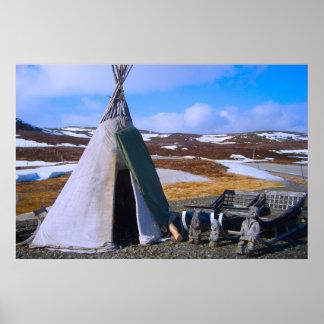 Norge Lapland, Sami bosättning Poster