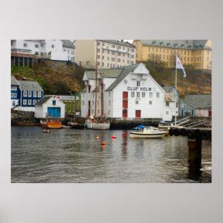 Norge Marina på huvudet av en fjord Print