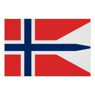 Norge norgeflagga affisch