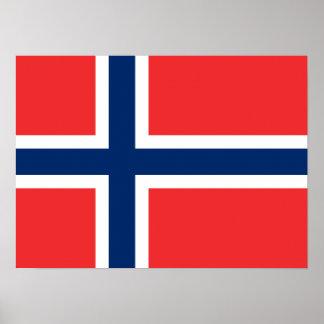 Norge - norsk flagga print