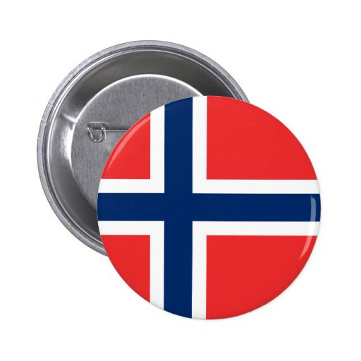 Norge - norsk flagga knapp med nål