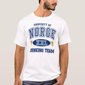 Norge norskt dricka lag tee shirts