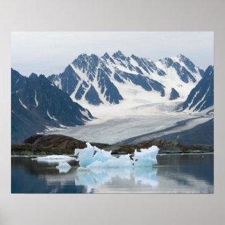Norge, Recedingglaciär och isberg Poster