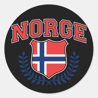 Norge Runt Klistermärke