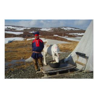 Norge Sami bosättning i Lapland Poster
