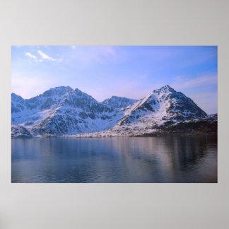 Norge snö på bergen affischer