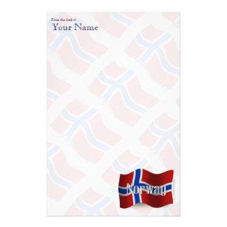 Norge som vinkar flagga brevpapper