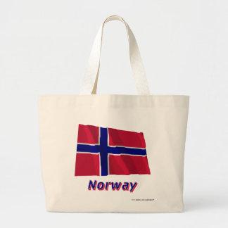 Norge som vinkar flagga med namn kasse