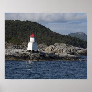 Norge Stavanger. Beskådar längs Lysefjord. Poster