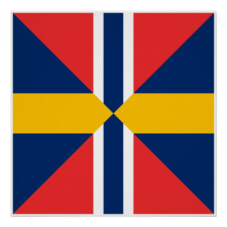 Norge Sverige Sildesalaten norge Posters
