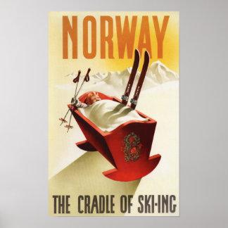 Norge - vagga av skidåkningen poster