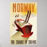 Norge - vagga av skidåkningen posters