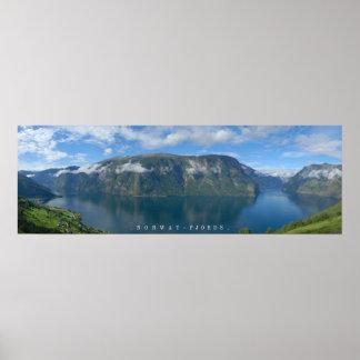 NorgeFjordsaffischen Poster