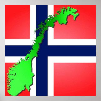 Norgeflagg, noregesflagg vid healinglove