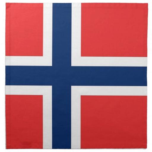 Norgeflagga på den MoJo servetten Näsduk